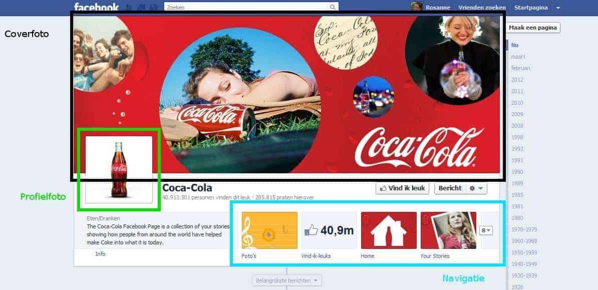 Nieuwe timeline Facebook