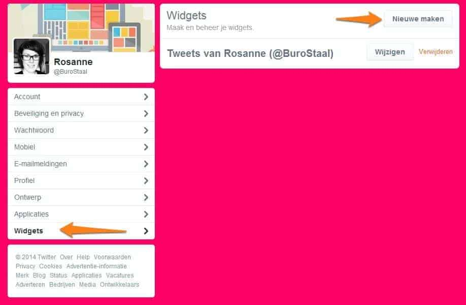 Twitter op je WordPress website - widget