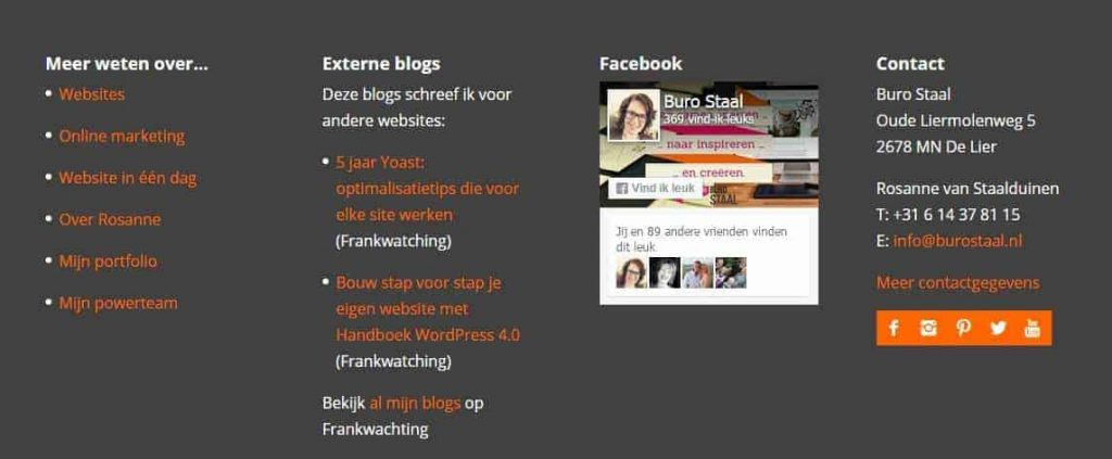 facebook page plugin resultaat