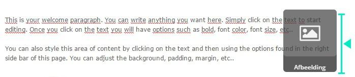 Afbeelding naast een tekstblok in ActiveCampaign