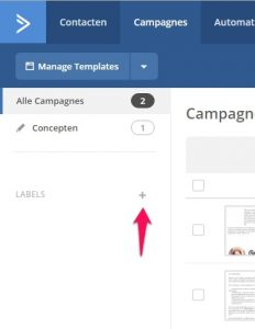 Campagnes labelen in ActiveCampaign