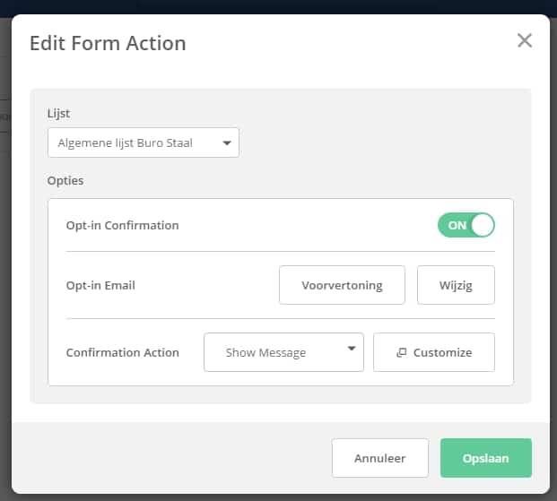 Opt-in aanpassen in ActiveCampaign