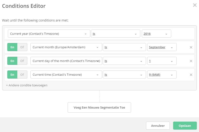 Startdatum automatisering in ActiveCampaign