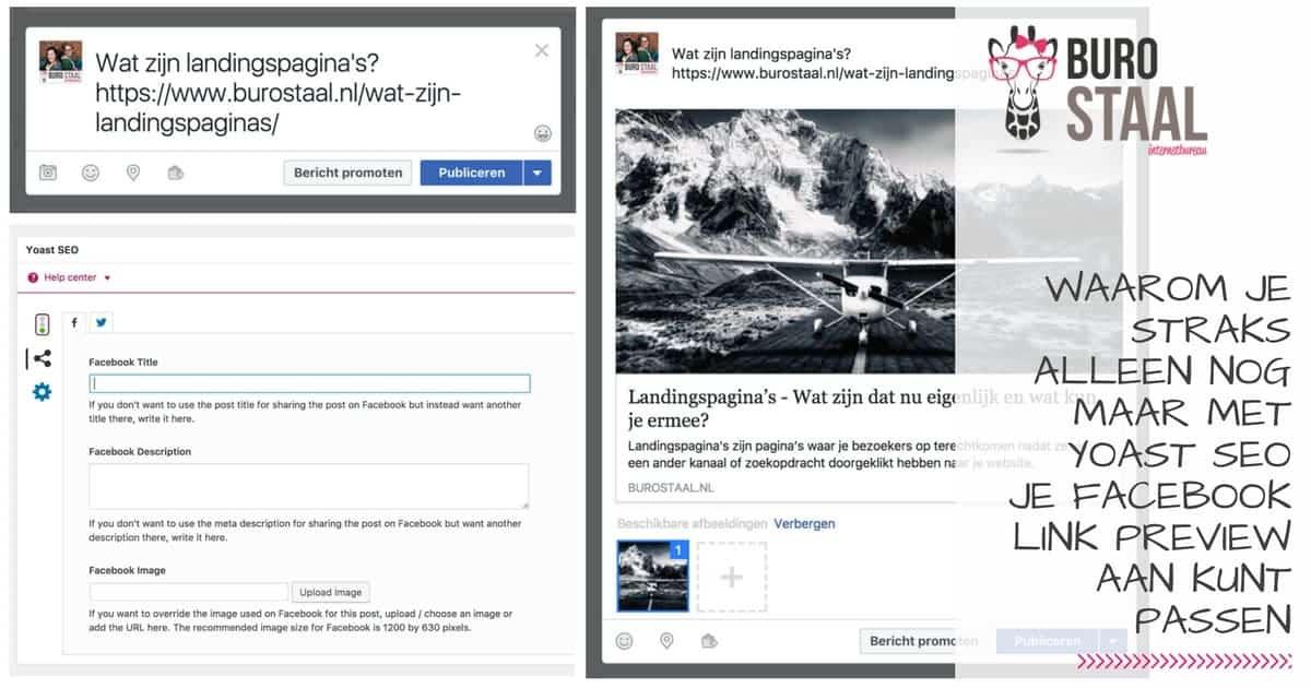 Facebook link preview aanpassen met Yoast SEO