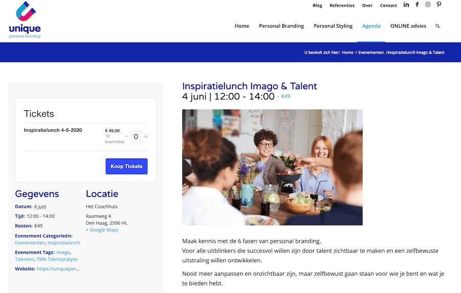 WordPress events verkopen