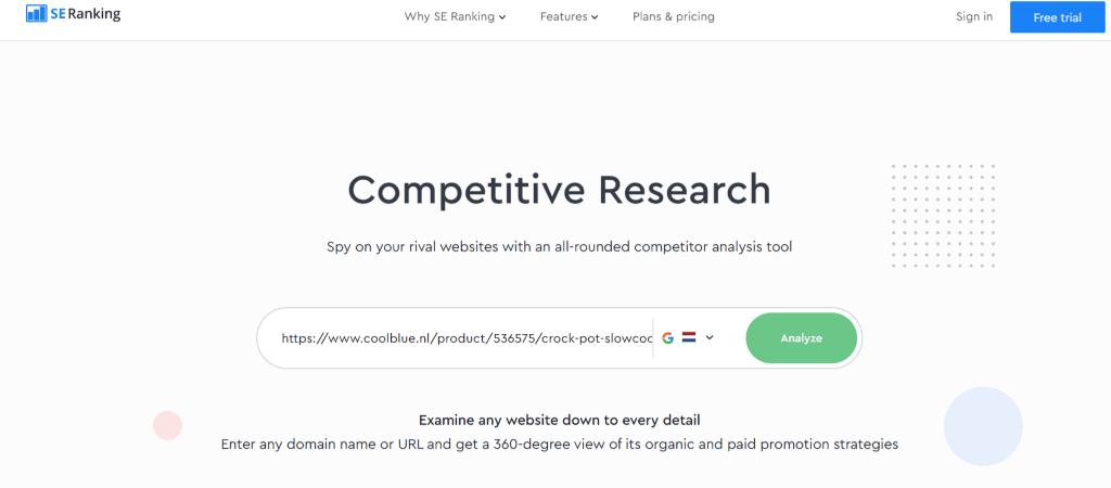 Webshop optimaliseren mbv concurrentie analyse