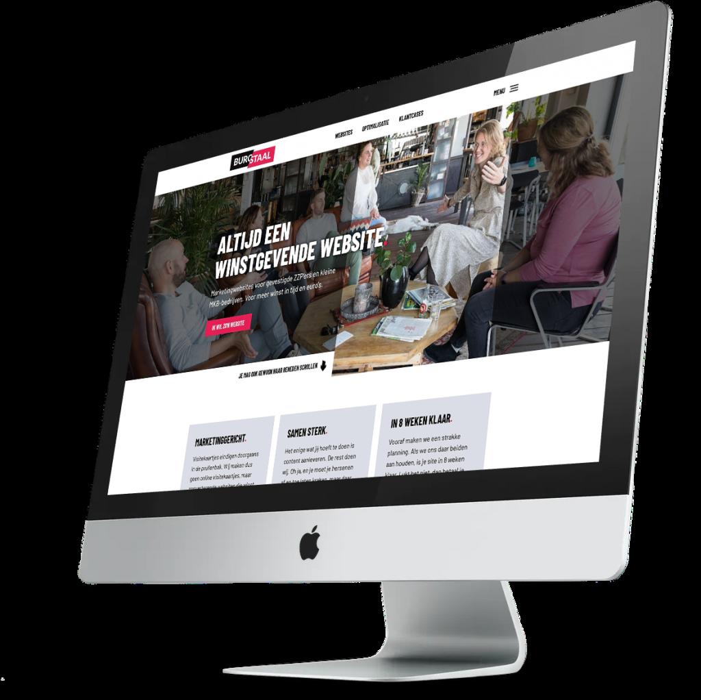 Schermafbeelding van BuroStaal.nl - Een web bureau gespecialiseerd in marketing websites en website optimalisatie