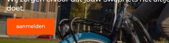 schermafbeelding van de call-to-action op de homepage van swapfietsen.nl. Dit formulier wordt gebruikt om leads te genereren