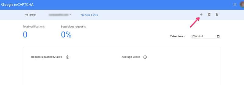 Schermafbeelding van Google reCAPTCHA waarmee je de BestWebsoft plugin koppelt.