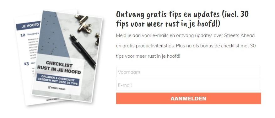 schermafbeelding van de gratis weggever van streetsahead.nl