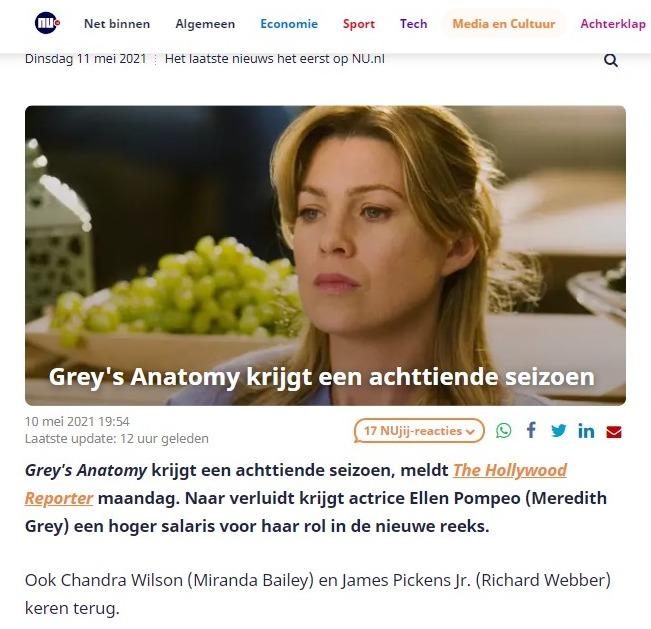 schermafbeelding van een artikel op nu.nl met een duidelijke samenvatting aan het begin van het artikel. Een goed voorbeeld van toegankelijk schrijven.