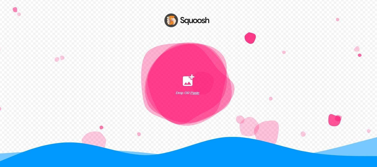 schermafbeelding van de Squoosh tool waarin je makkelijk afbeeldingen kunt omzetten naar oa WebP formaat