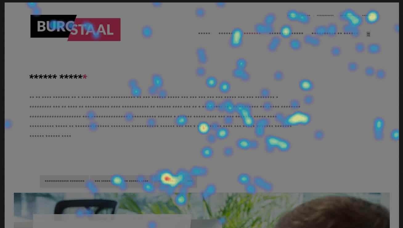 Schermafbeelding van Hotjar op de website van Buro Staal. Ga je online formulieren maken, gebruik dan ook Hotjar om deze te testen.